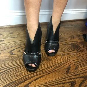 Franco Sarto Studded Peep-toe Booties